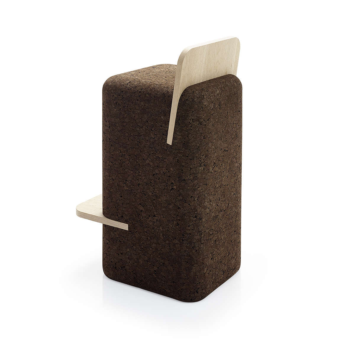 Black Cork Cut Bar Stool1