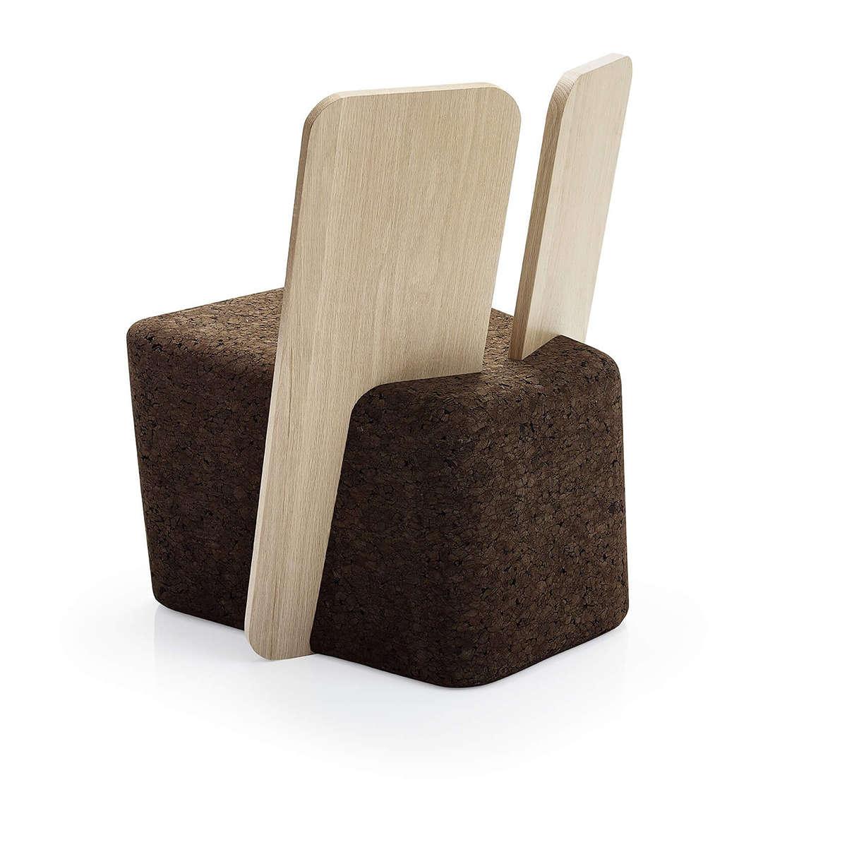 Black Cork Cut Lounge Chair 1