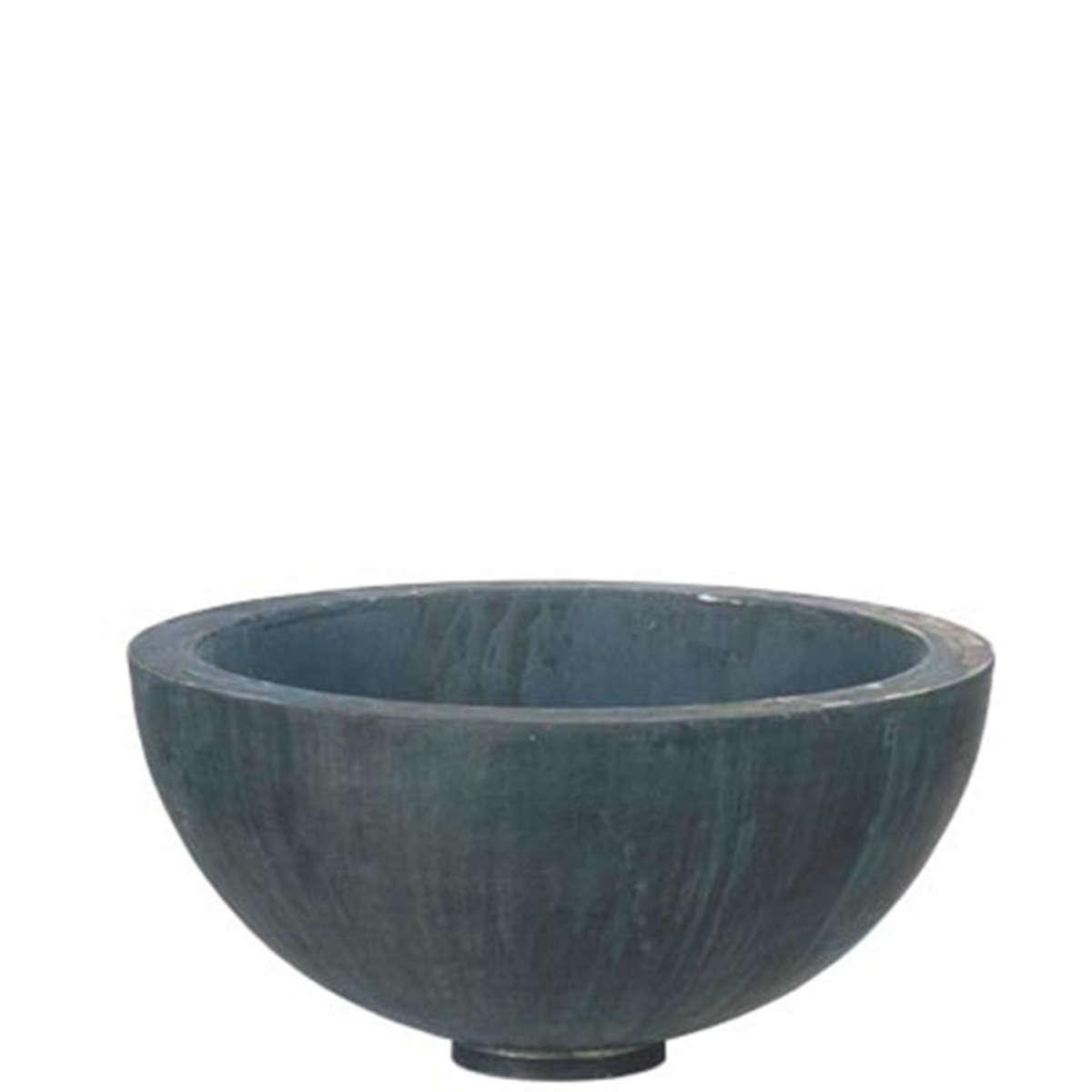 Zinc Half Bowl