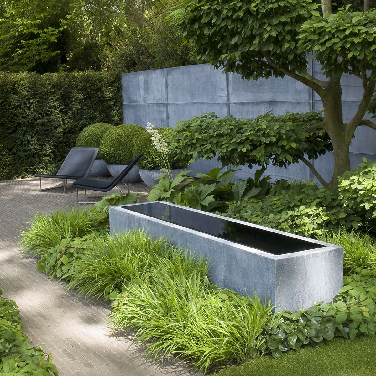 Domani Zinc Trough Pot Chelsea