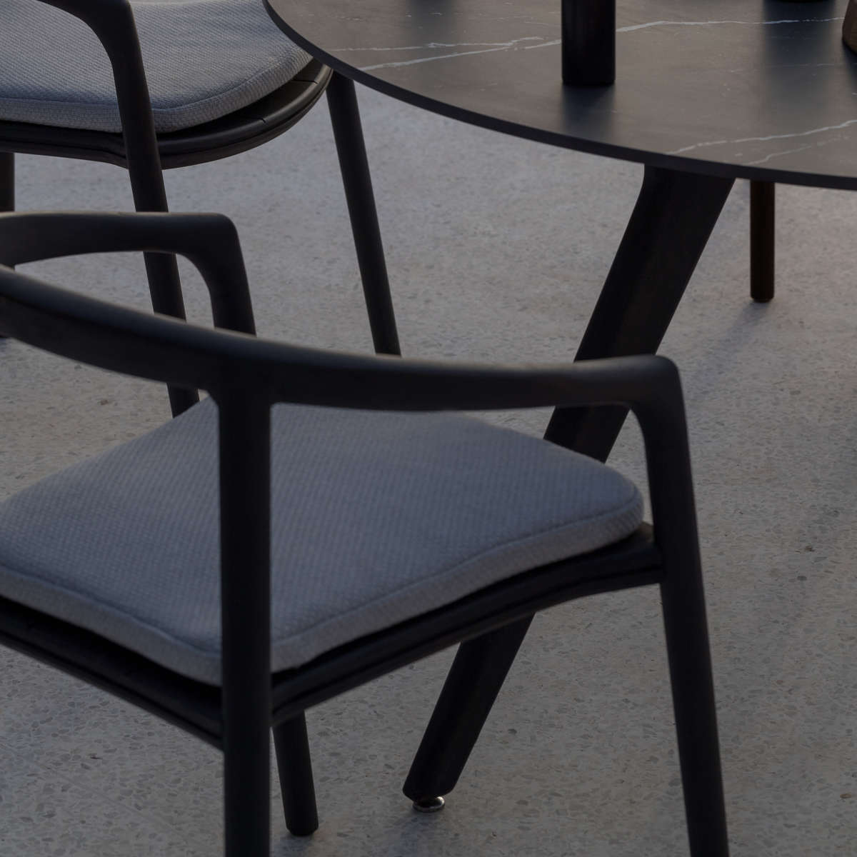 Manutti Solid Stacking Chair Ambi Black 3