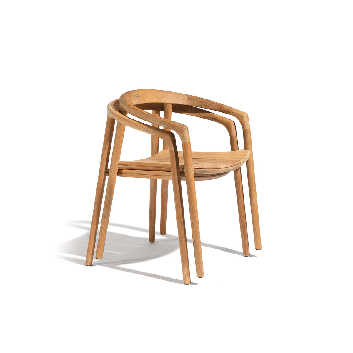 Manutti Solid Stacking Chair Cut Out Wood 1