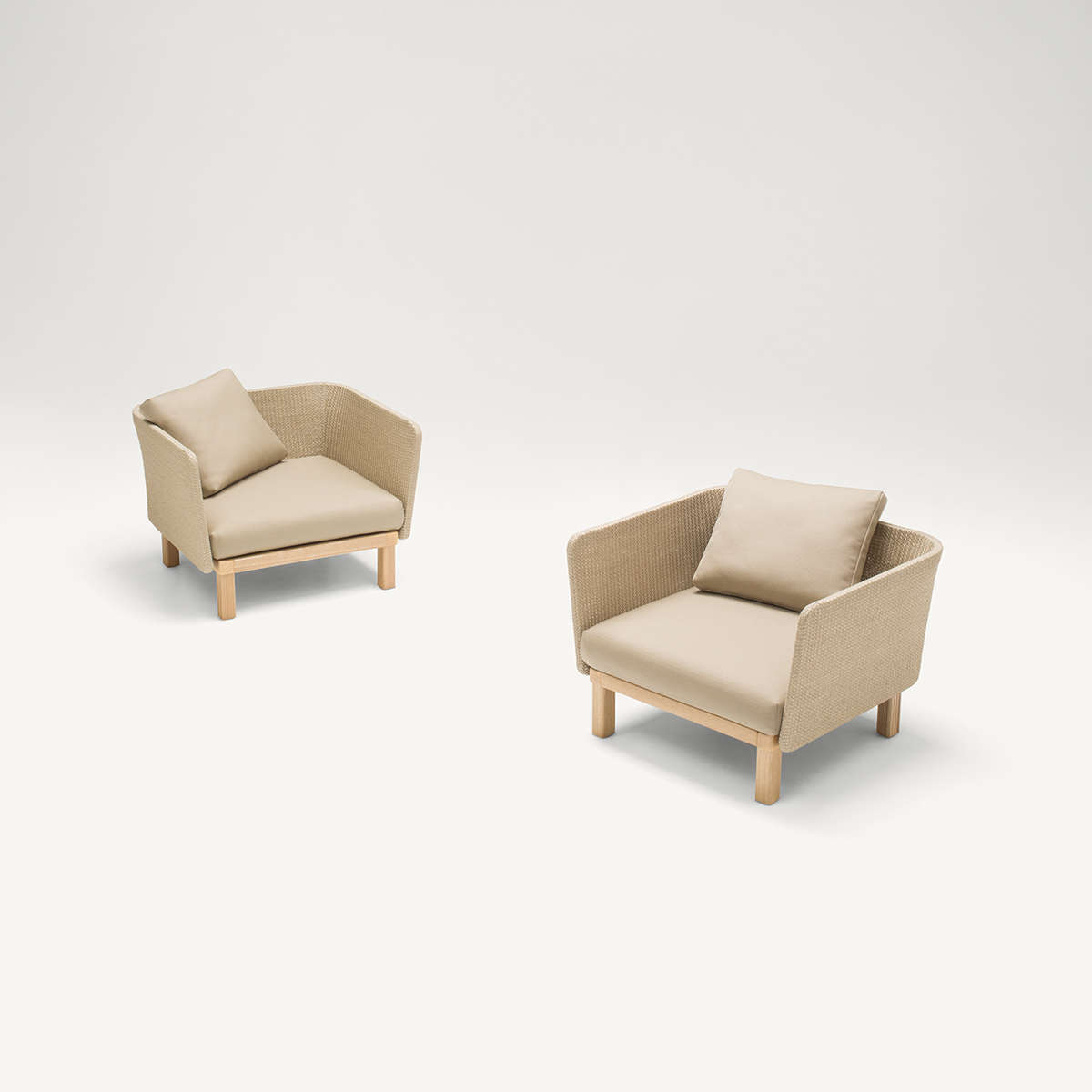 Paola Lenti Sabi Arm Chair Sized Cut Out 2