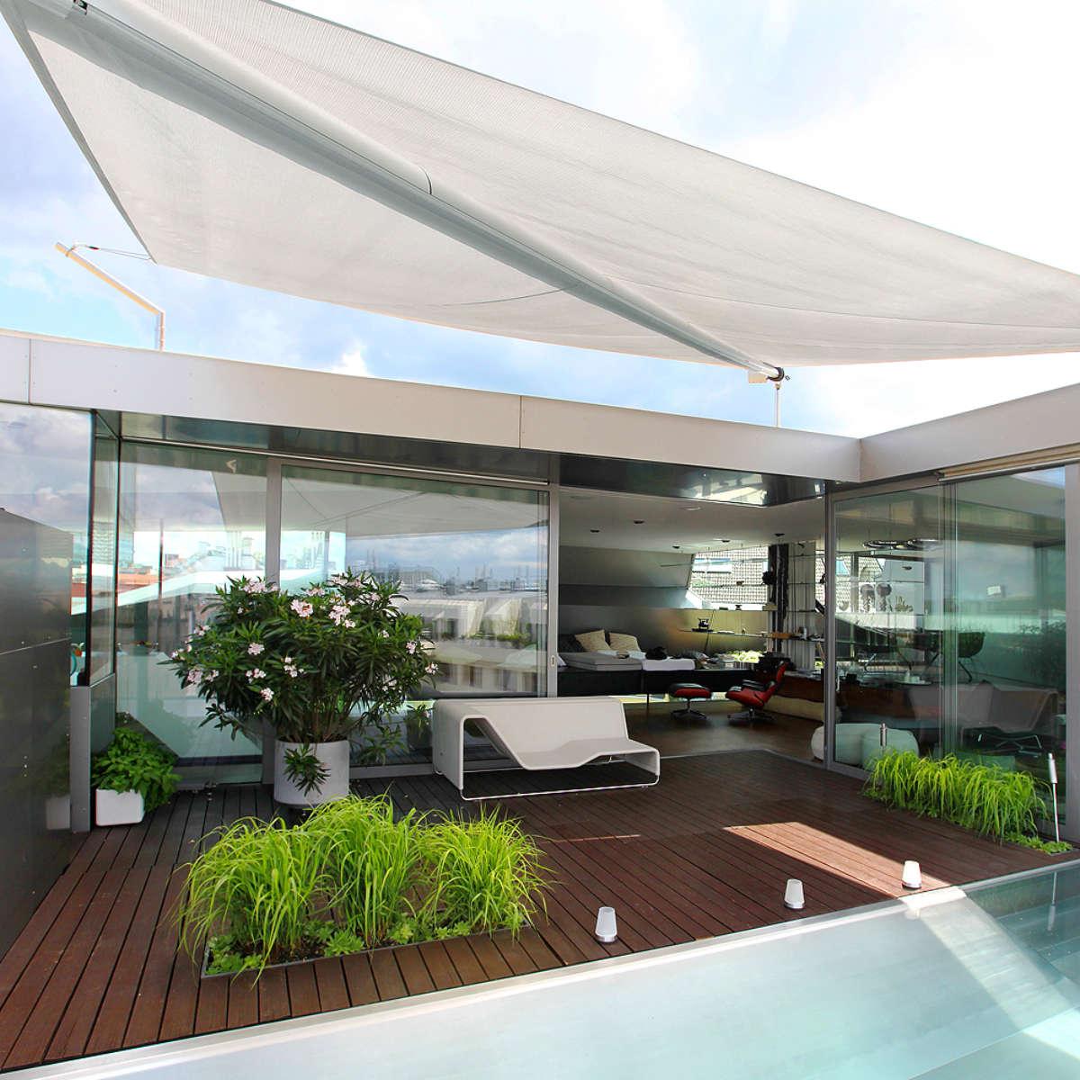 Modern Garden Trento Dining Table With Teak Top