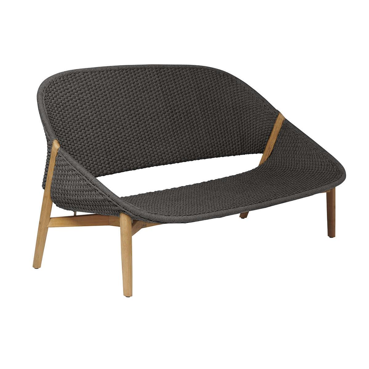 Tribu Elio 2 Seat Linen Wenge Modern Garden