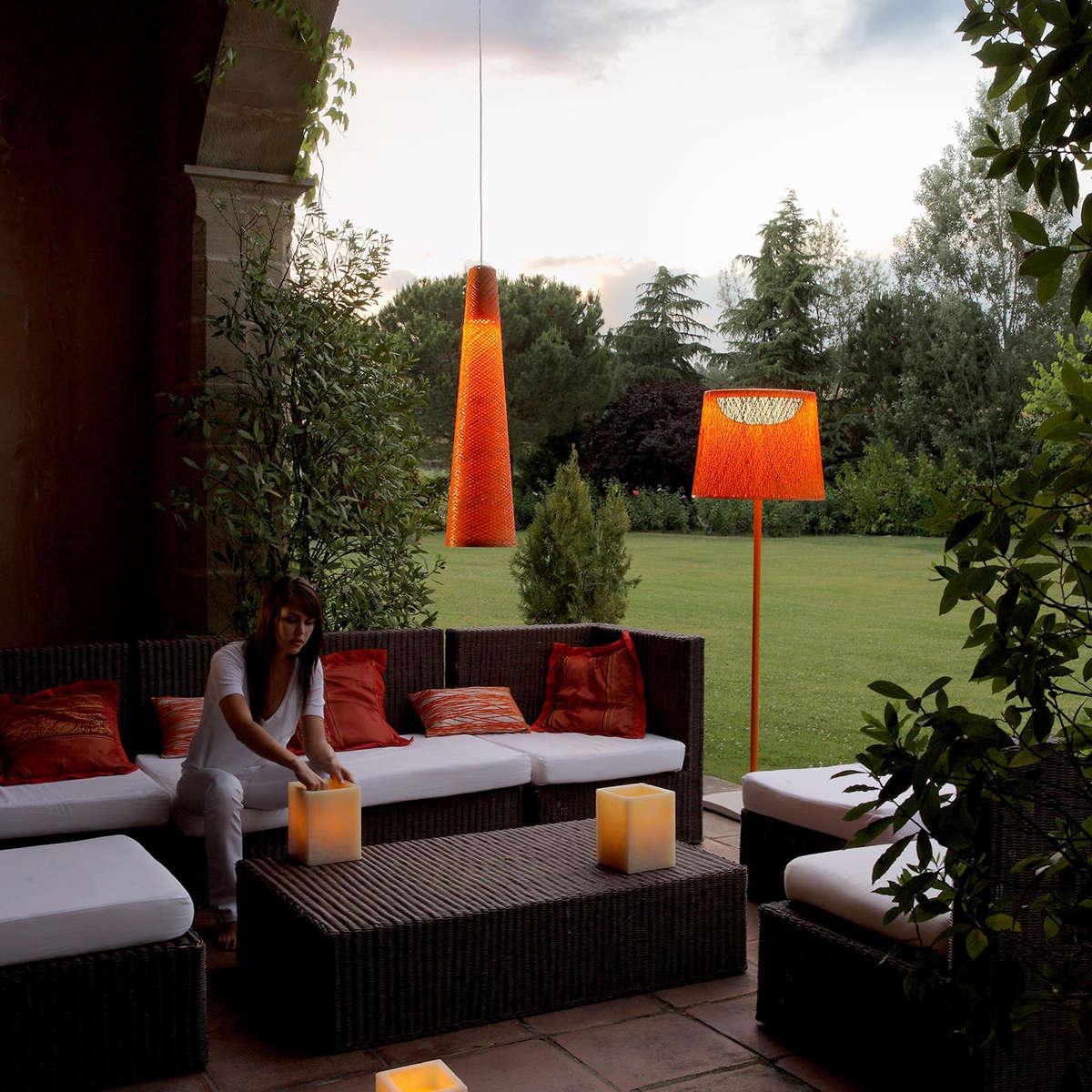 Vibia Wind Floor Lamp Ambient Orange