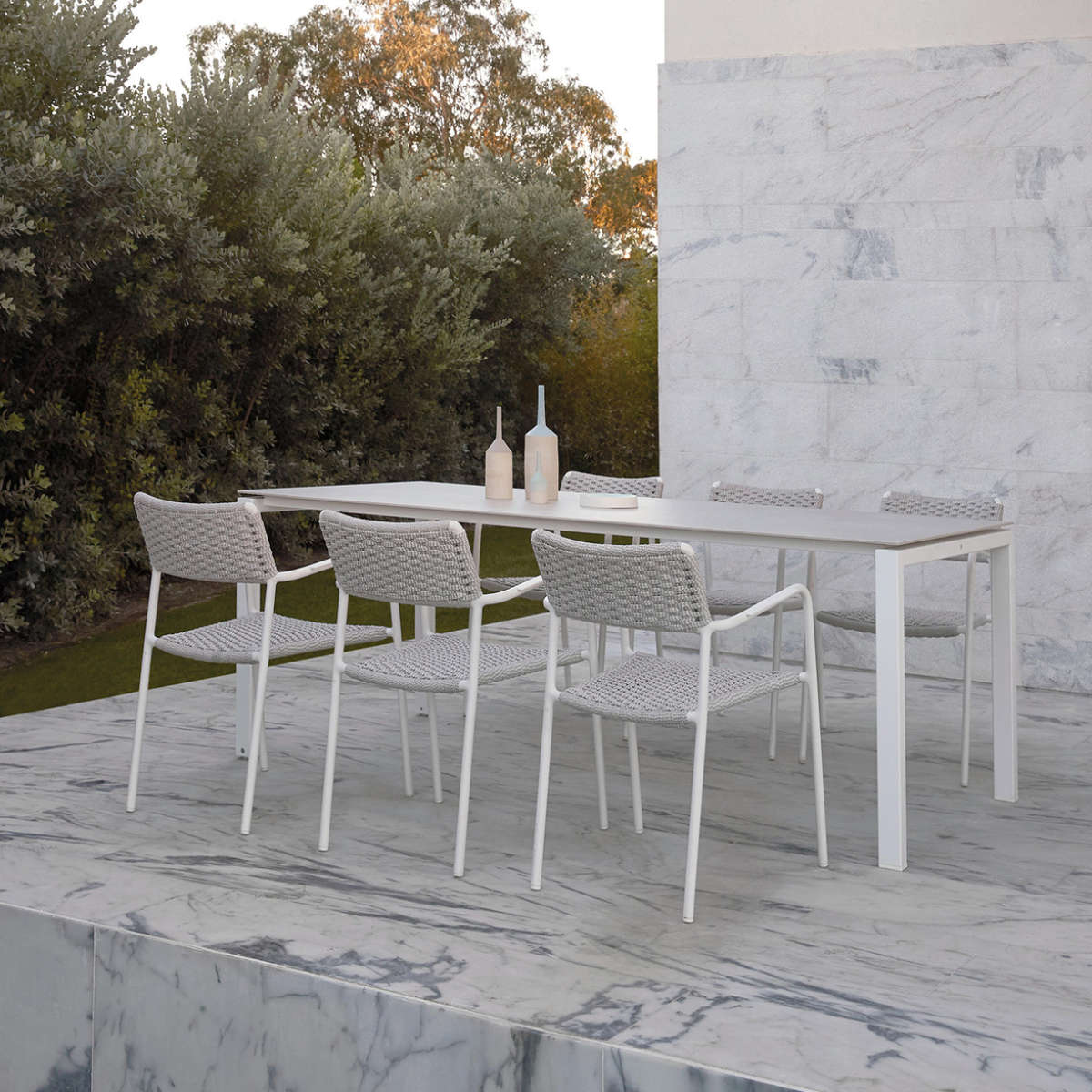 Trento Dining Table Ambient White With White