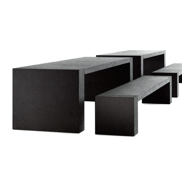 RW A14  Solid Stone Dining Tables and Benches