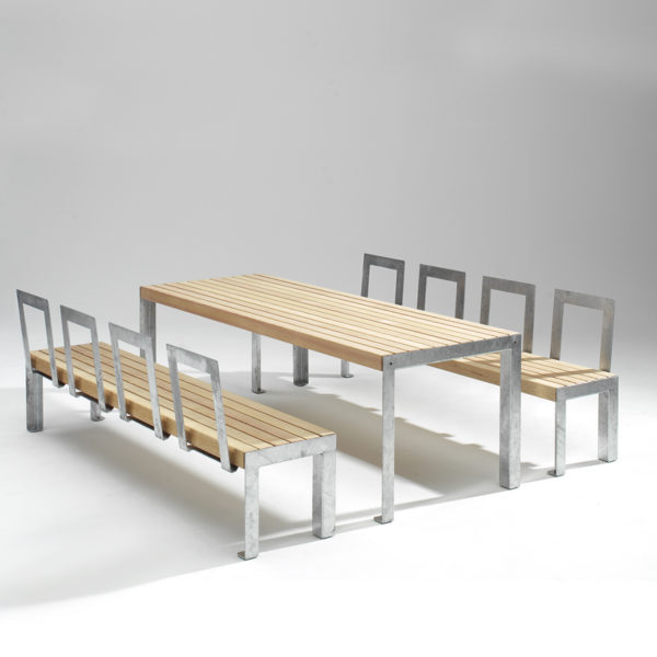 RW A11  Larch and Steel Dining