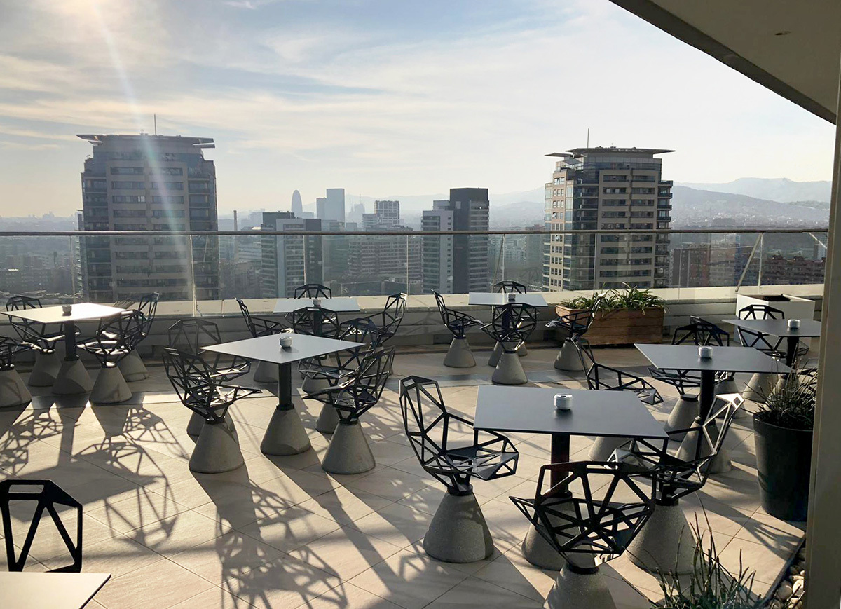 Hilton Hotel Roof Terrace, Barcelona by Design: Client & MGCo