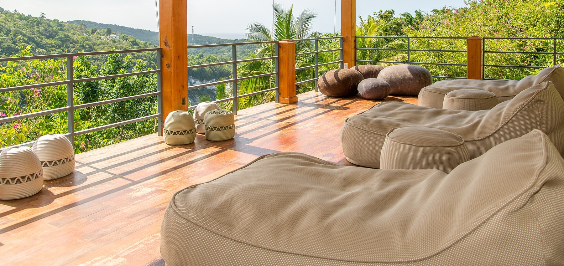 Yoga terrace at Destiny Villa